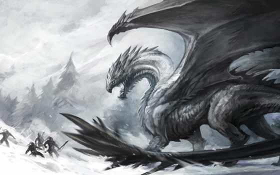 драконах, легенды, дракон, драконы, дуэль, fantasy, рисованный,