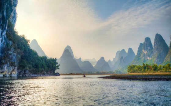 yangshuo, уезд, reki, природы, china, привалова, природа,