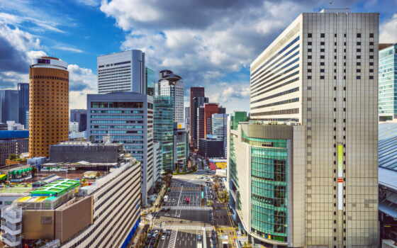 japanese, осака, castle, urban
