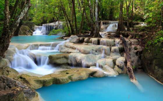 водопад, tropical, природа, плакат, print, canvas, national, эраван, картинка