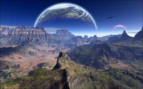 небо, горы Фон № 17422 разрешение 1920x1200