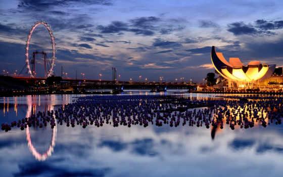 singapore, колесо, обозрения