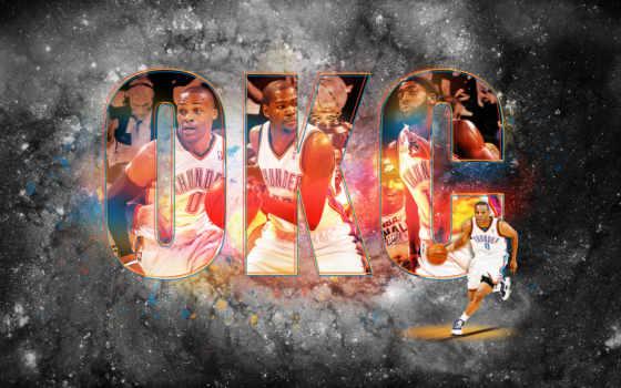 thunder, okc, oklahoma, город, баскетбол,