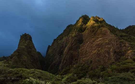 hawaii, ноябрь, острова, рисунки, долина, фотографий, maui, iao, небо,