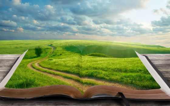 world, книга, книги, дерево, закладка, landscape, трава, дорога, книг, которые, изменили,