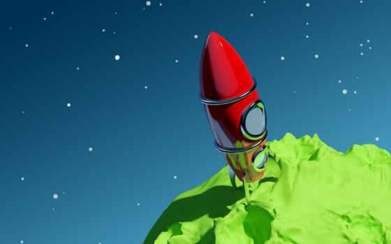 ракета, cosmos, planet, звезды, rocket, rendering, космос, винтажная, royalty, stock, free,