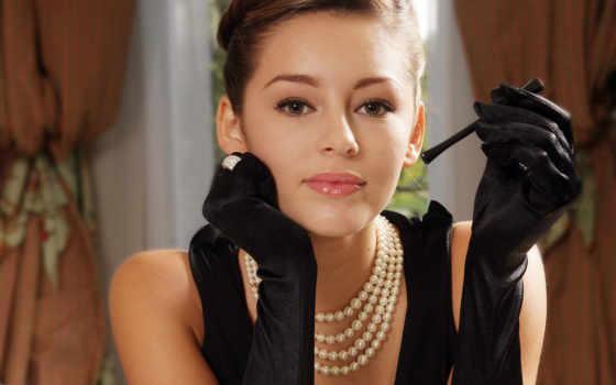бусы, pearl, wear
