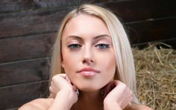 макияж, блондинок, глазами
