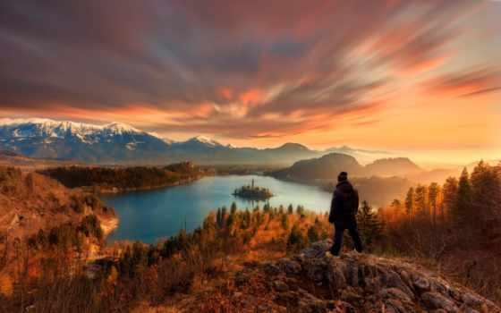 озеро, bled, природа, картинка, rca, взгляд, distance, кабель,