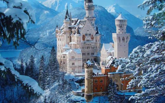 замок, castle Фон № 16223 разрешение 1920x1200