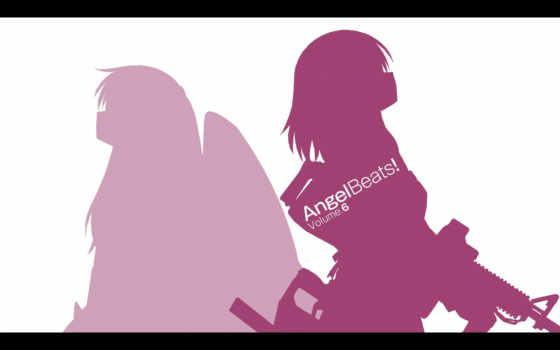 angel, beats, tachibana, nakamura, yuri, kanade, gun,