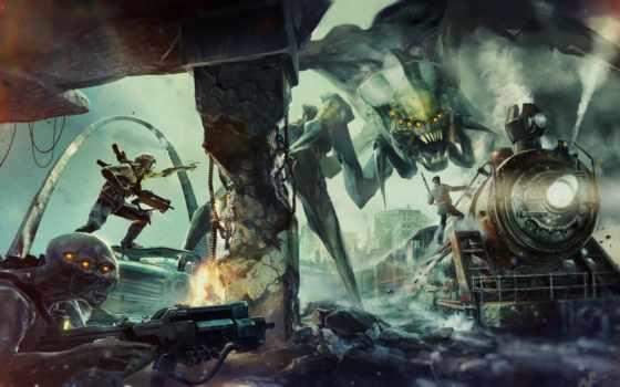 монстры, руины