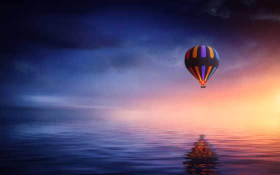 air, hot, balloon