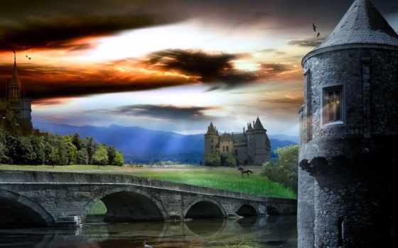 castle, world, fantasy, росинка,