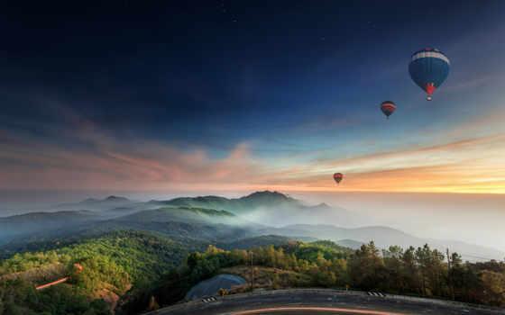 природа, мяч, landscape, aerial, balloon, небо, картинку, дневник, шары, воздушные, росинка,