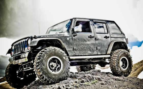 колеса, jeep, dirt