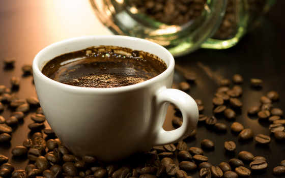 coffee, cup, grains, кофейные,