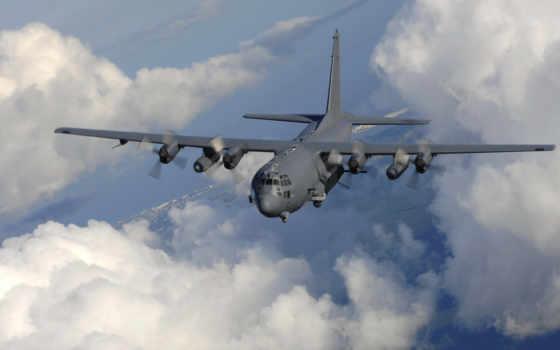 ас, lockheed, gunship, прямо, тяжеловооруженн, поддержки, air, самолёт, предназначенный, американский, shock,