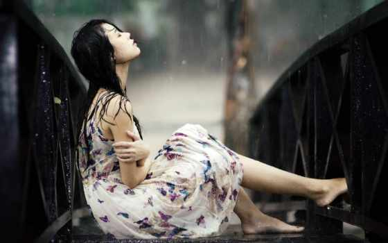 дождь, девушка, free, girls, pictures, грустный, desktop,