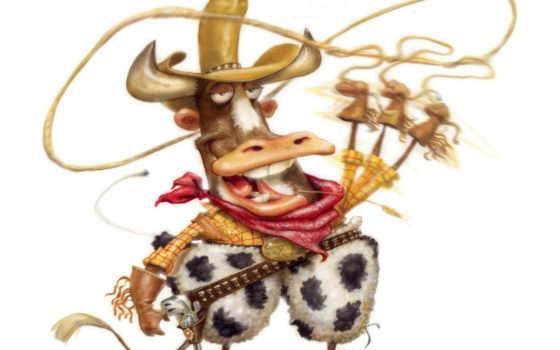 рисунки, ковбой, рисунок, cow, комментариев, lockeµäð, картинка, gary, карикатуры, фото, тосты,