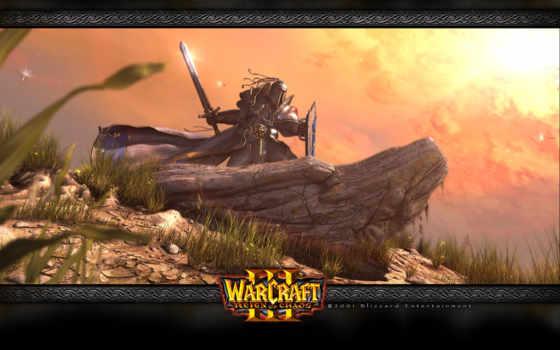 warcraft, reign, iii, chaos, ураганного, могут, орки, атакуют, башню, ветра, но,
