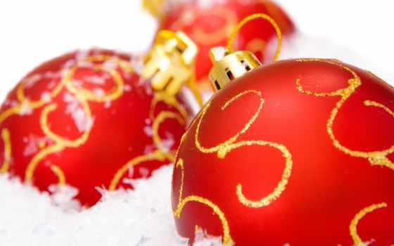 новогодние, дек, шарики