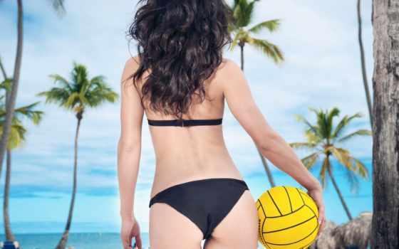 волейбол, мяч, девушка