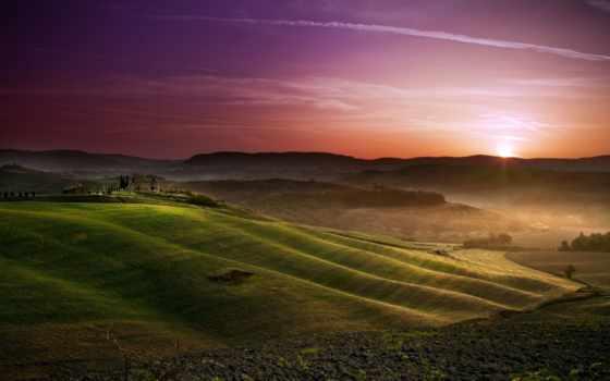 fond, ecran, toscane, une, soleil, tlcharger, fonds, paysages,