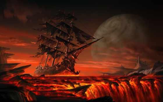 black, pearl, корабль, пиратский, ships, dutchman, art, flying,