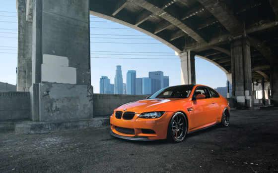 bmw, оранжевый, машины, взгляд, спереди, лайм, фронтовой, задок, издание,