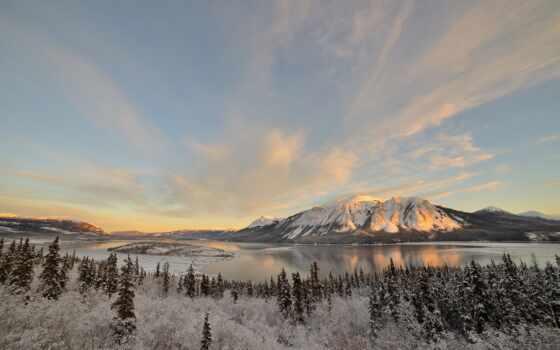 landscape, explore, свободно, mobile, озеро, zima, франция, попутный, гора, дерево, góry