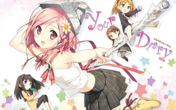 картинка, аниме, эпизод, персонаж, hair, hirosaki, kanade, sayuki, kantoku, ayase, eyes, diary, minagawa, картинку, yuuhi, pantyhose,