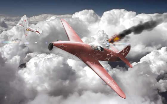 облака, небо, самолёт Фон № 50296 разрешение 2560x1440