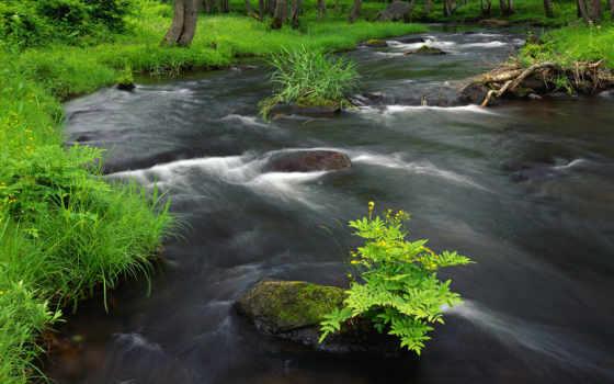 река, горная, вся