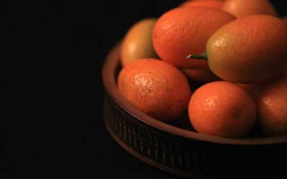 чаша, black, kumquat, фон, colorful, fruits, meat, tee, плод, kake,