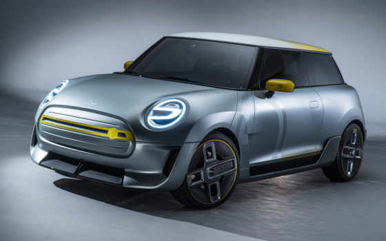 мини, electric, concept, cooper, car, this, rear, ан,