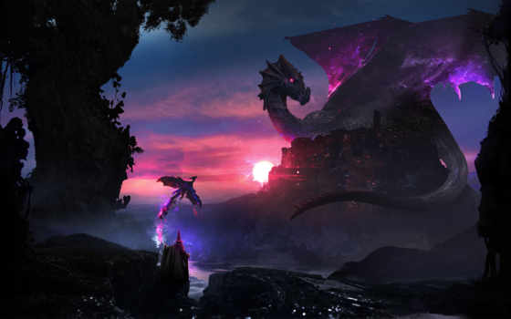 дракон, desktop, art, game, fantasy, mobile, deviantart,