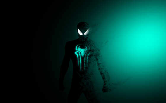мужчина, паук, spiderman, minimal, artwork, dark, marvel, супергерой, art