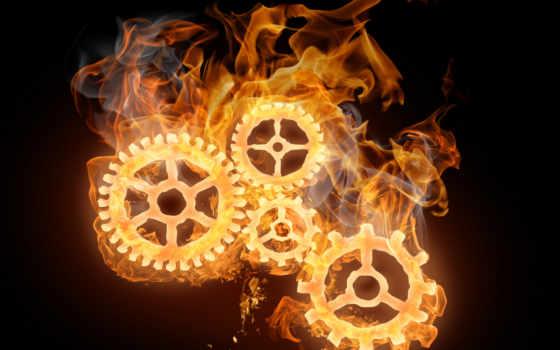 огонь, flames, механизм