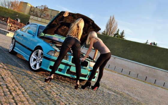 bmw, авто, girls