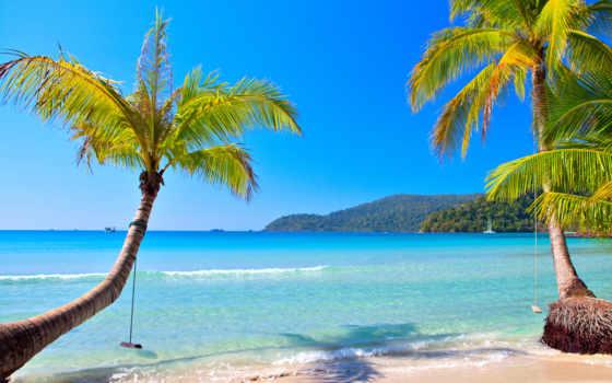 пляж, blue, ocean
