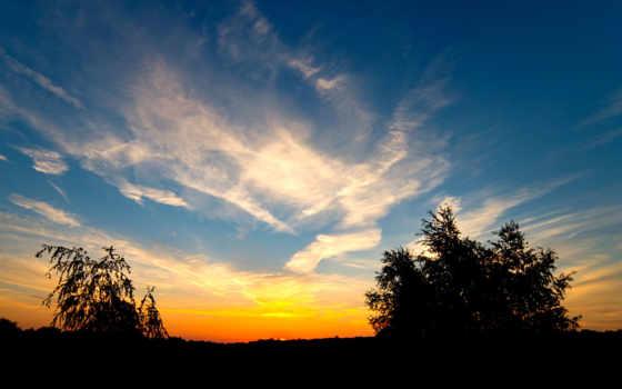 небо, природа, sun
