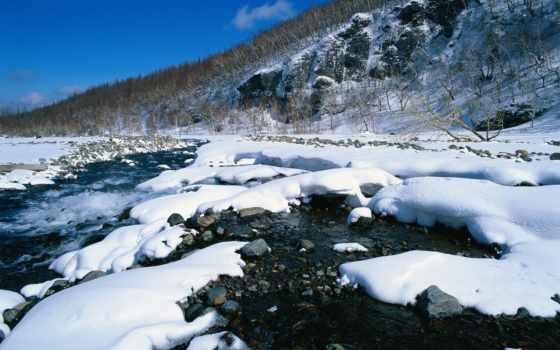 winter, landscape, фотообои