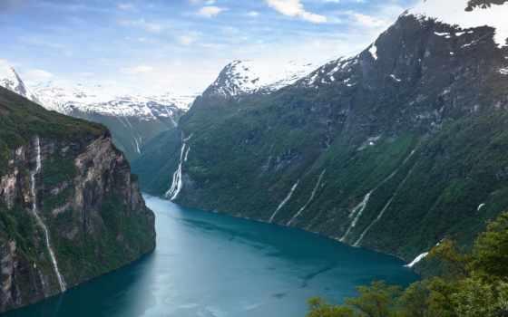 norwegian, fjord, geiranger, горы, норвегия, река, landscape, geirangerfjorde,