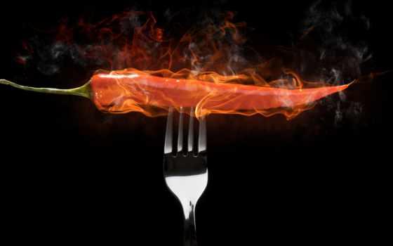 еда, огонь, burn, картины, перец, кухни, картинку,