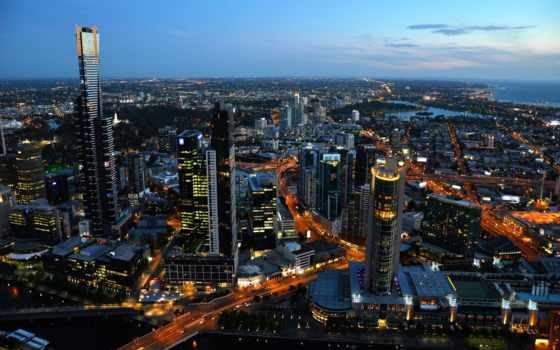 melbourne, австралия, город, intercâmbio, самый, populous, egali,
