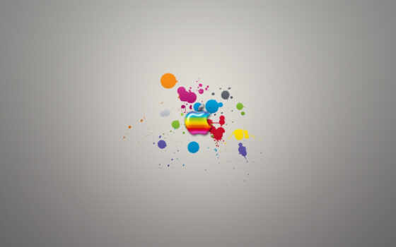 apple, радуга, logo