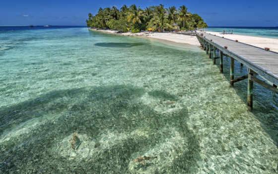 остров, океан, разрешений, мальдивы,
