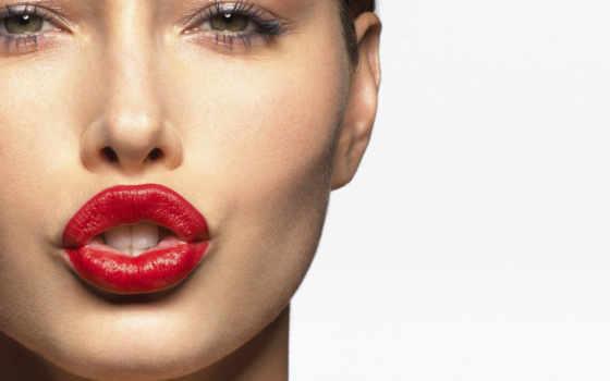 губы, правильно, краска