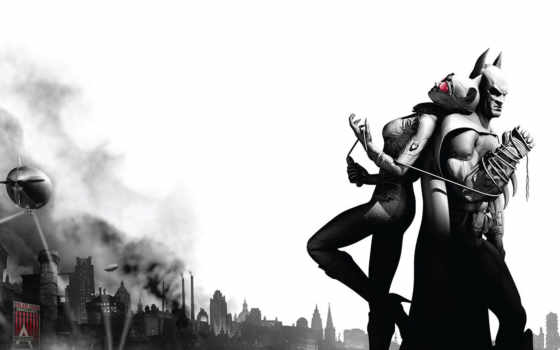 batman, женщина, кот